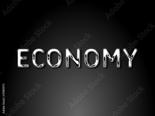 Economy chrome text / EPS vector file