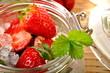 Erdbeeren im Glas