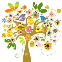 Elementy wielkanocne na drzewo