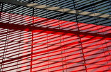 Fototapety Black and red facade of a modern building