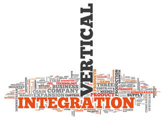 "Word Cloud ""Vertical Integration"""