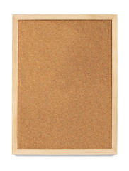 Portrait Cork Board, blank and isolated