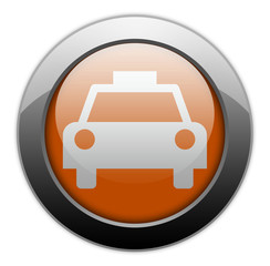 "Orange Metallic Orb Button ""Taxi Cab"""