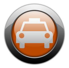 "Orange Metallic Orb Button ""Taxi Cab"""
