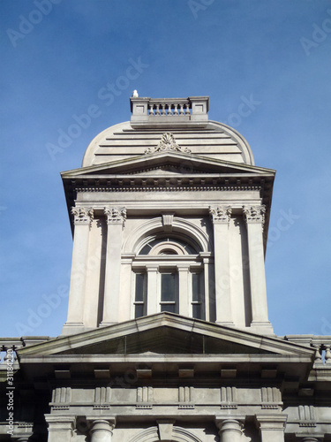 Seagull rests on top of United States Custom House in Portland