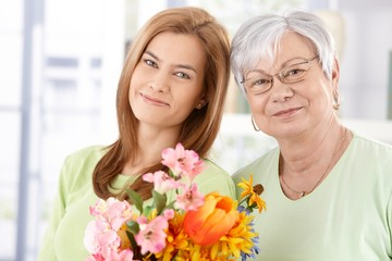 Portrait of mother and daughter at Mother's day