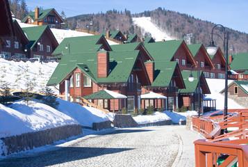Bukovel. Ukraine. Carpathian ski resort..