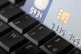 Online credit transaction - shallow dof poster