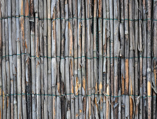 old grunge reed mat wired background pattern