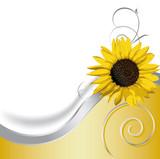 Sonnenblume schwungvoll mit Spiralen