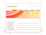 White Website Layout Template in Red and Yellow Colors