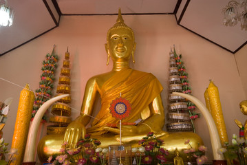 Sitting buddha in Thai church 2.