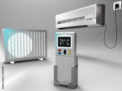Leinwandbild Motiv climatisation