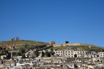 Hügel über Fes in Marokko