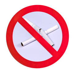 no smoking warning sign isolated