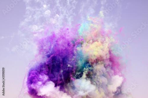 colored smoke - 31198019