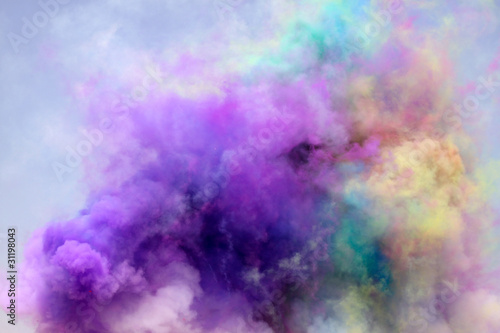 colored smoke - 31198043