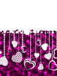 A lot of hearts valentine card. EPS 8
