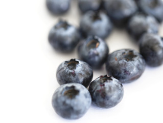 Fresh blueberry on the white background