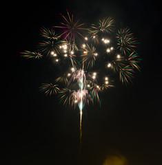 firework in nigth sky