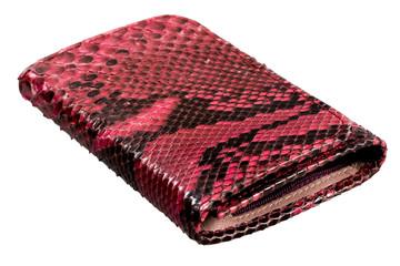 Snake leather wallet