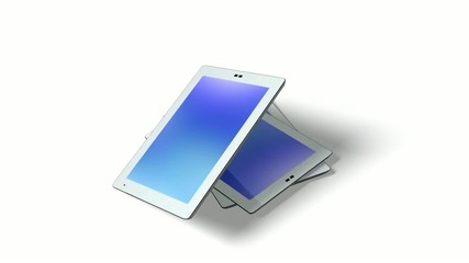White tablet pc. With alpha channel.
