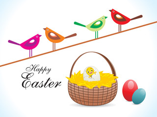 abstract colorful easter birds wallpaper