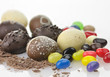 chocolate eggs and candies