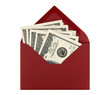 Money in a red envelope