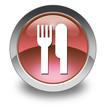 "Red Glossy Pictogram ""Eatery / Restaurant"""