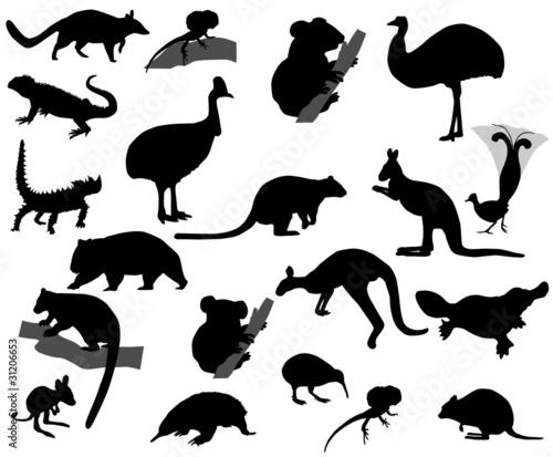 元素剪影动物哺乳