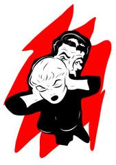 dispute couple homme et femme mains dans les oreilles
