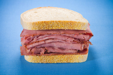 Smoked meat beef sandwich