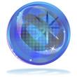glänzend - blau - glaskugel