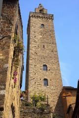 Stone Costarella Tower Medieval Town San Gimignano Tuscany Italy