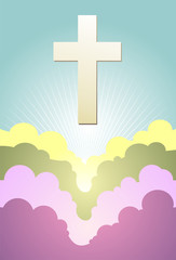 Cross icon design.