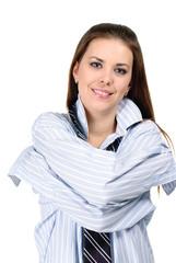 young woman wearing shirt