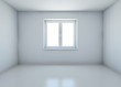 room with closed window without furniture