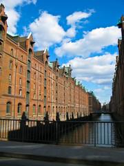 historic Speicherstadt made of old bricks