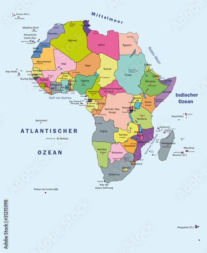 Afrika Karte mit viele kleine Inseln
