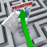Promotion in Maze - Open Door to Career Success poster