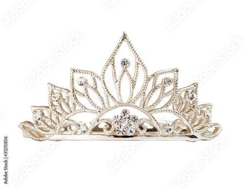Isolated tiara or diadem on white