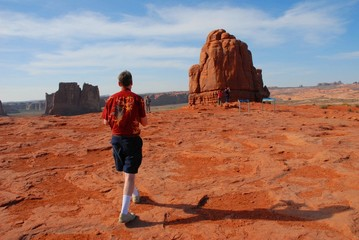 Hiking at Arches