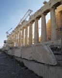 Restoration works, Parthenon Acropolis, Athens Greece poster