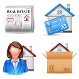 real estate icons set 2