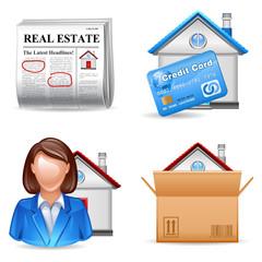 real estate icons set 2