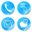 customer support  phone icons