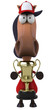 Cheval jockey