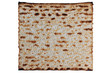 Traditional Jewish Matzo Sheet, Isolated.