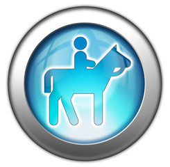 "Glossy 3D effect button ""Horse Trail"""
